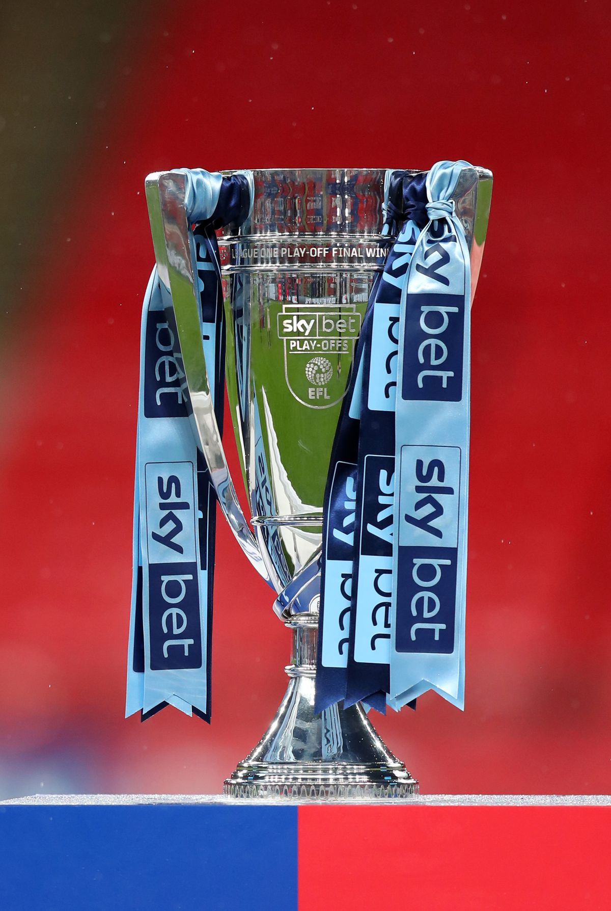 The Sky Bet League One Play Off Final Trophy. Sniff.