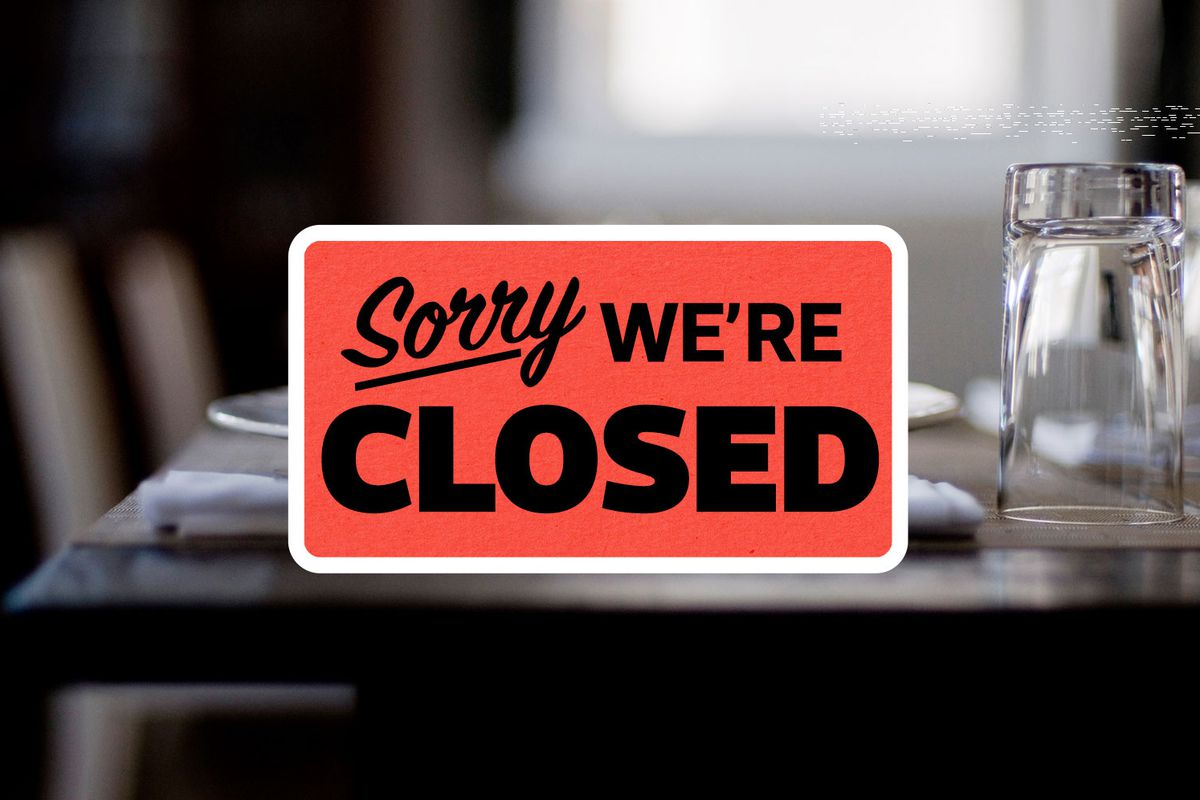 """A sign that says """"Sorry we're closed"""""""
