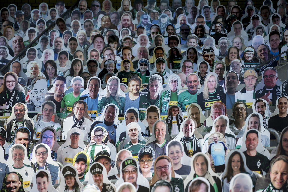 Borussia Moenchengladbach Supporters Sustain Their Club By Buying Cardboard Characters