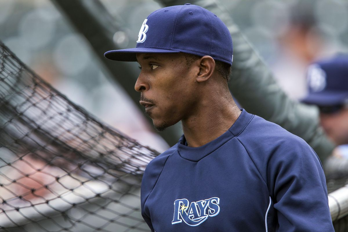 Aug 11, 2012; Minneapolis, MN, USA: Tampa Bay Rays center fielder B.J. Upton (2) looks on during batting practice before a game against the Minnesota Twins at Target Field. Mandatory Credit: Jesse Johnson-US PRESSWIRE