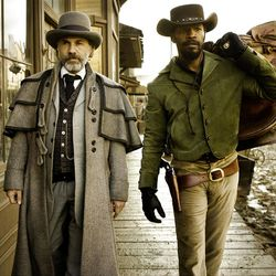 """Christoph Waltz stars as Schultz and Jamie Foxx stars as Django in director Quentin Tarantino's """"Django Unchained,"""" which is rated R."""