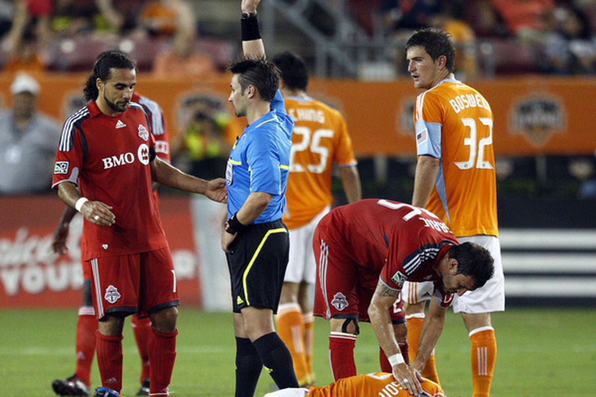 Not a whole lot of pictures on here involving TFC and Refs.  But the point is that MLS refs are getting trained so maybe De Ro won't get CONCACAF'ed as much in the future.