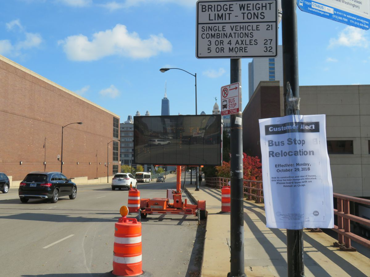 Chicago Avenue bridge closed for demolition, reconstruction - Curbed