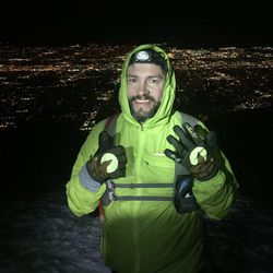 Mark Robbins makes his sixth and final summit in honor of Hayes Tate about 12:30 a.m. Sunday.