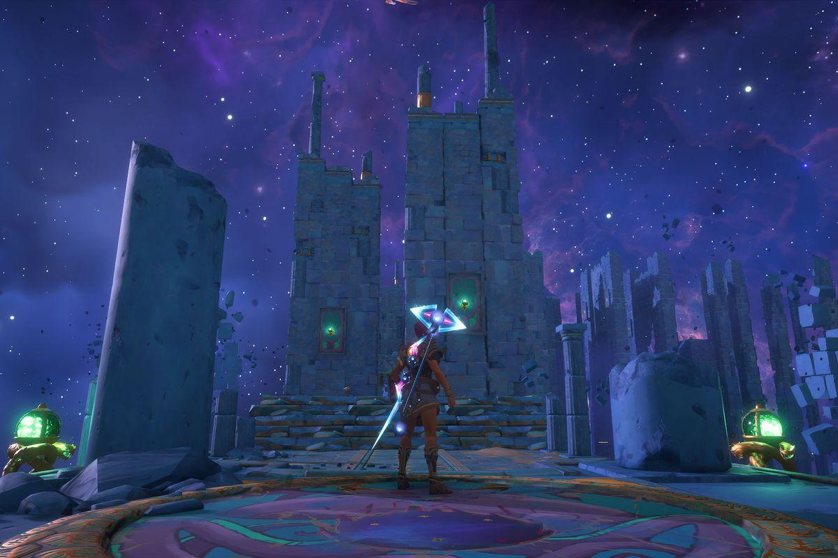 A puzzle solution in Medusa's Lair Vault of Tartaros in Immortals Fenyx Rising