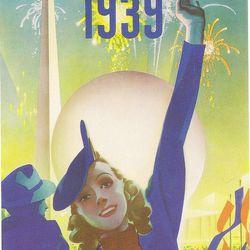 "World's Fair poster via <a href=""http://www.flickr.com/photos/25152449@N06/3381784174/"">Flickr/Ms Blue Skies</a>."