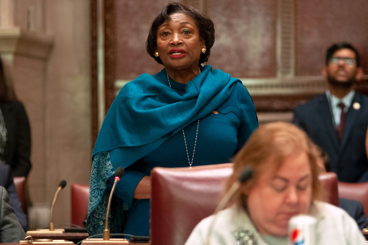 State Senate Majority Leader Andrea Stewart-Cousins speaks in Albany during the start of the 2020 session, Jan. 8, 2020.