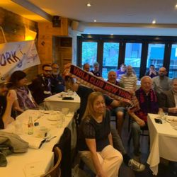 The Viola Club New York watching the game at Serafina Always