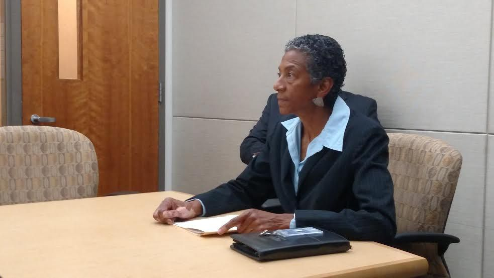 """Allegra """"Happy"""" Haynes at the ethics board hearing she requested (Eric Gorski)."""