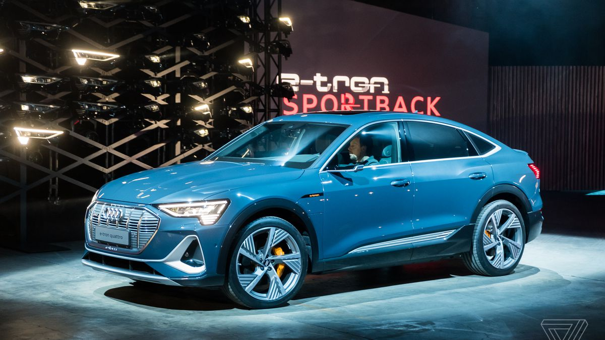 Audi E Tron Sportback Revealed A Fastback Sedan With Over 200 Miles Of Range The Verge