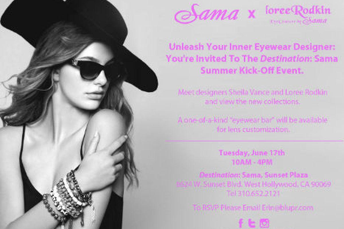 Flyer via Sama Eyewear
