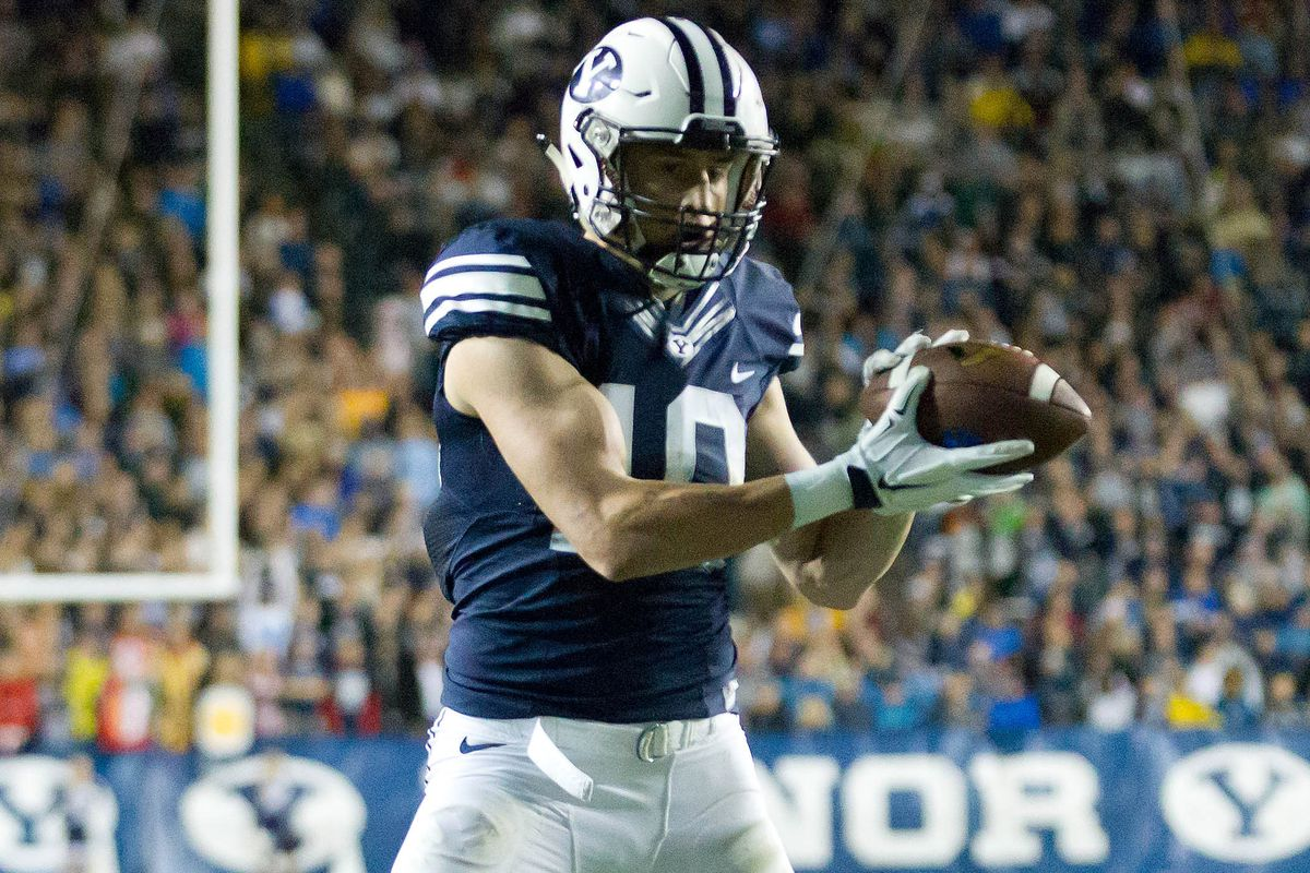 Mitch Mathews is one of the large Cougar receivers