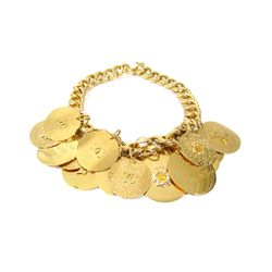 """Chanel Coin Necklace from the '80s, <a href=""""http://www.shopdecadesinc.com/shop/viewproduct/7401"""" target=""""_blank"""">$2,800</a>. """"A lovely neck piece that's not to be used in parking meters."""""""