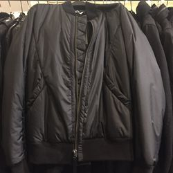 Men's non-leather jacket, size extra small, $199 (from $595)