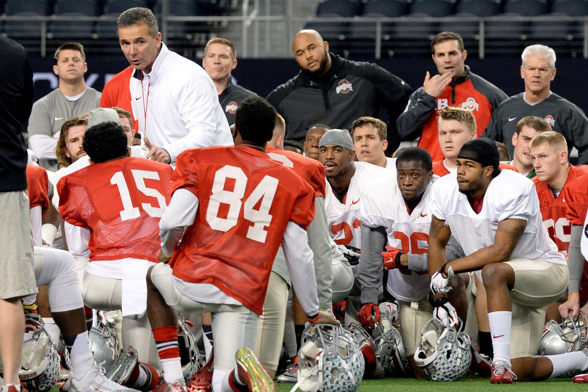 Urban Meyer continues preparing his players for the Virginia Tech game.