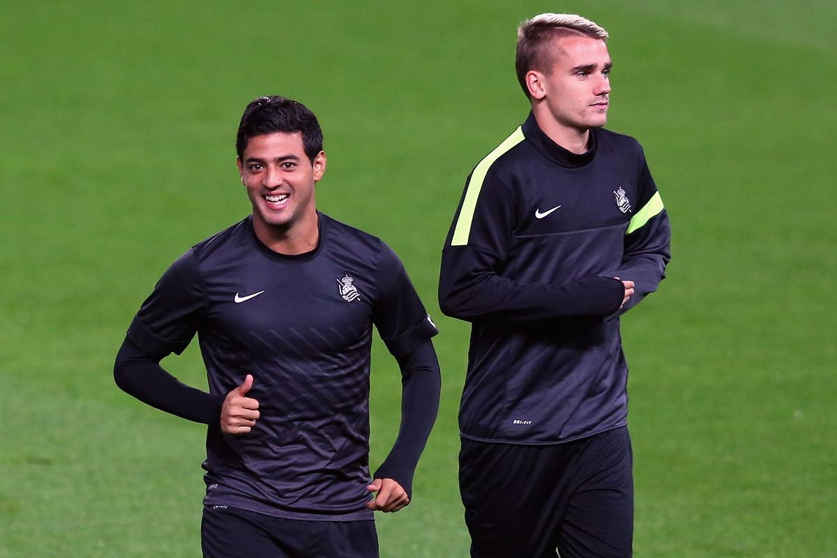 """the latest efe7b 9d850 Griezmann to Vela: """"Wait for me in LA...I'll be there soon ..."""
