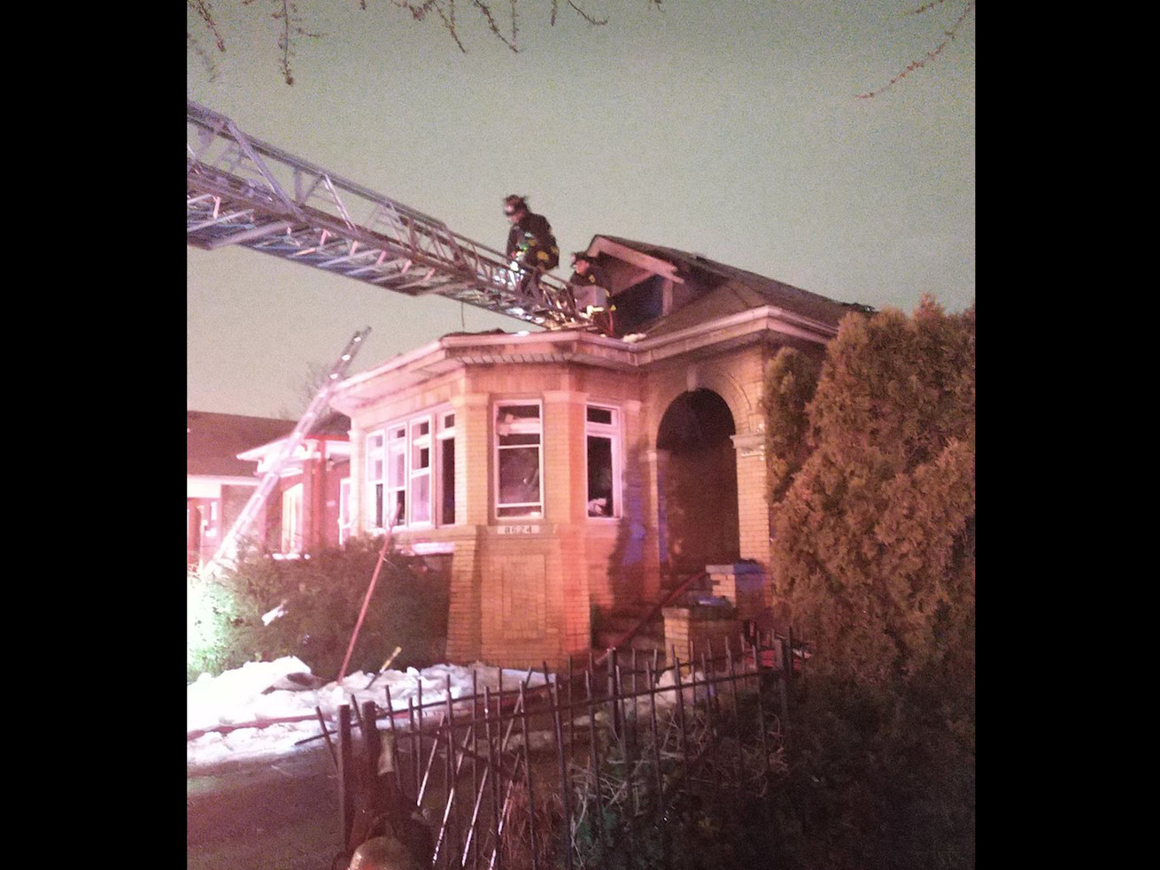 A fire broke out in a home Feb. 28, 2021 in the 8600 block of South Hermitage Avenue in Gresham.Chicago Fire Department