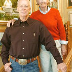 Paul and Lenore Mendenhall, parents of BYU football coach Bronco Mendenhall, at their home in Alpine.