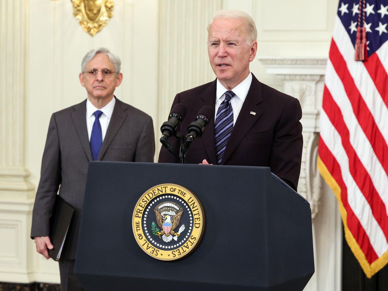 President Biden And Attorney General Garland Deliver Remarks On Gun Crime Prevention