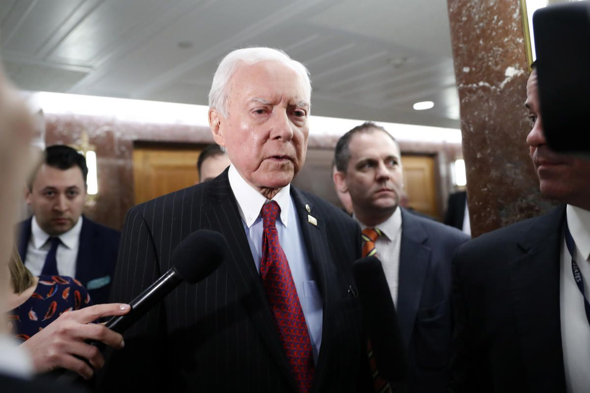 """FILE""""""""Sen. Orrin Hatch plans to run for an eighth term . . . unless. Unless his health goes south. Unless his wife gets sick. Unless, unless. You get the picture."""