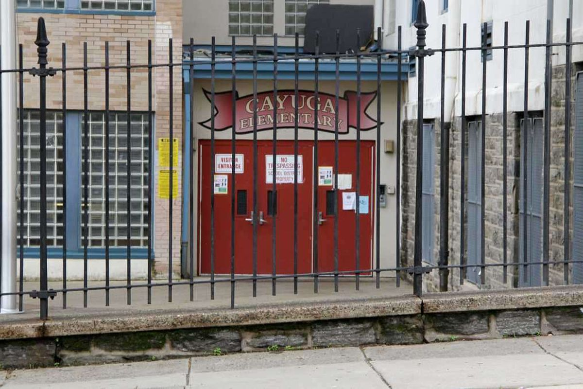 Cayuga Elementary School in North Philadelphia is one of the 53 schools opening to some students in March 2021.