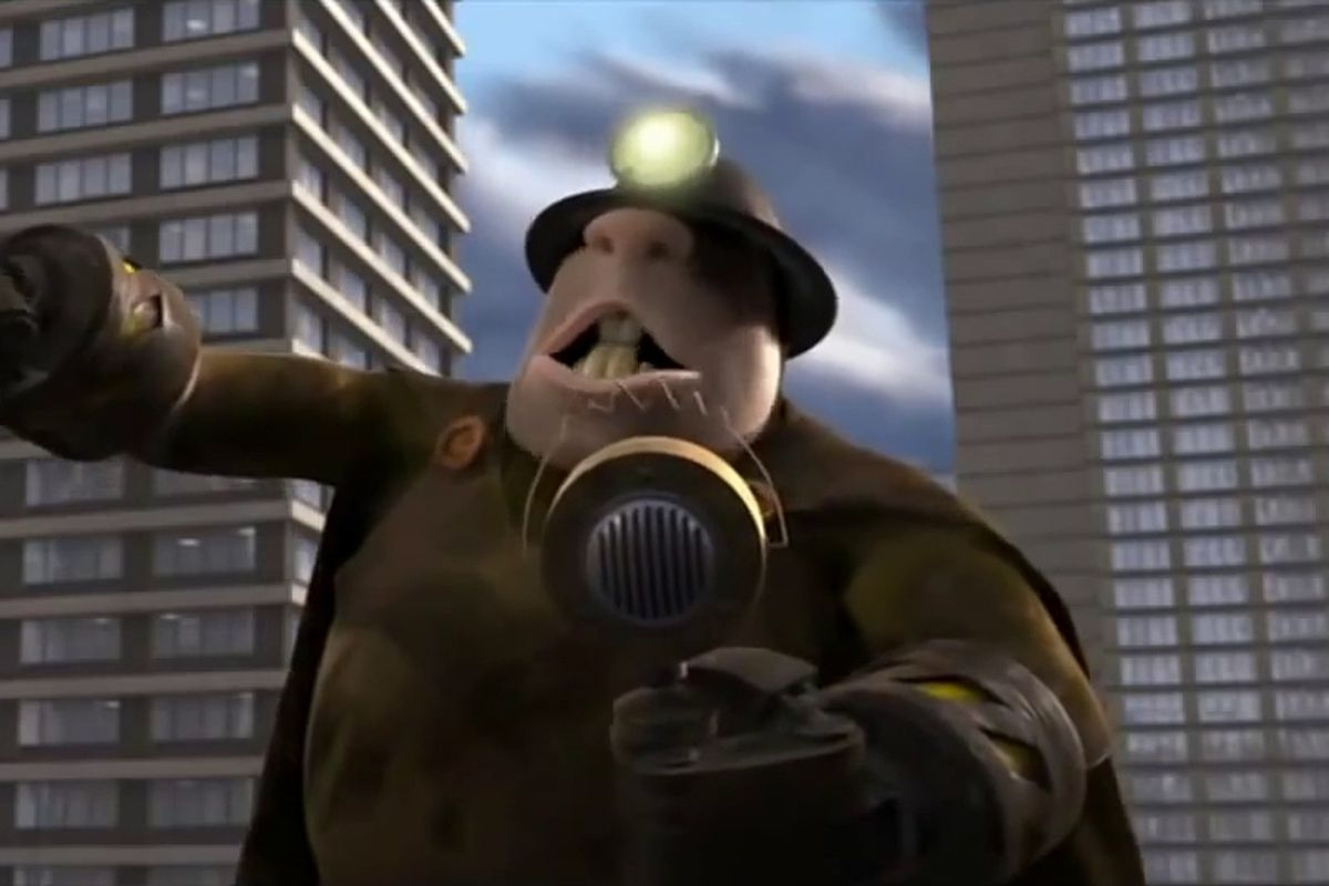 The Underminer rises up to terrorize the city of Metroville in the closing moments of 2004's The Incredibles.        Pixar  Disney