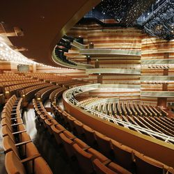 A tour is given of the new George S. and Dolores DorÉ Eccles Theater in Salt Lake City on Sept. 16, 2016.