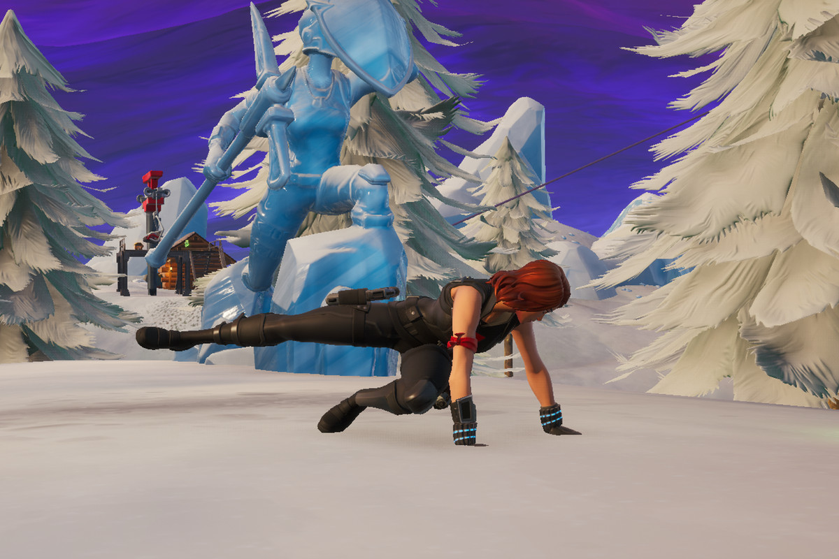 dance between three ice sculptures three dinosaurs and four hot springs fortnite challenge guide - dance between 3 hot springs fortnite