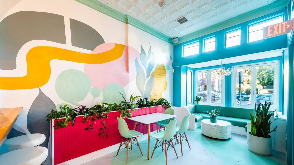 Restaurant Design Trend Colorful Pastel Blobs Are Everywhere Eater