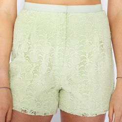 """<b>Sophie Hulme</b> Pineapple Lace Shorts in Lime, <a href=""""http://shop.dagnyandbarstow.com/products/sophie-hulme-lace-shorts"""">$495</a> at Dagny + Barstow"""
