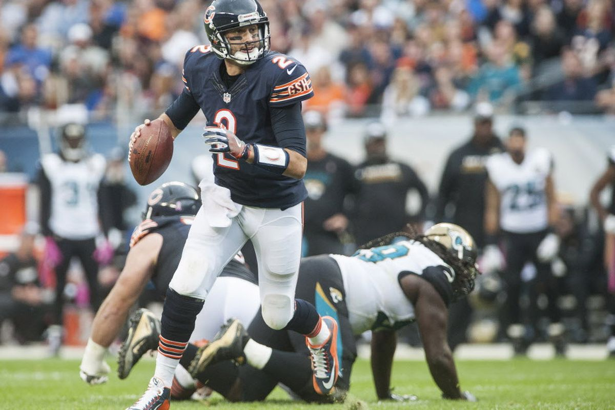 eb9a6750a03 Bears quarterback Brian Hoyer was 30-of-49 for 302 yards, no touchdowns and  no interceptions for a 78.8 passer rating in the Bears' 17-16 loss to the  ...