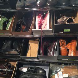 A glimpse of the men's shoe selection.