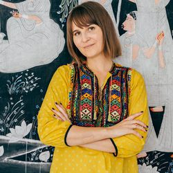"""<b>The Designer:</b> <a href=""""http://ny.racked.com/archives/2014/06/13/open_studio_liz_phillips.php"""">Liz Phillips</a><br><br> <b>The Look:</b> """"The stones themselves are what most influences my design process. The gems that I use are cut by hand in Jaipu"""