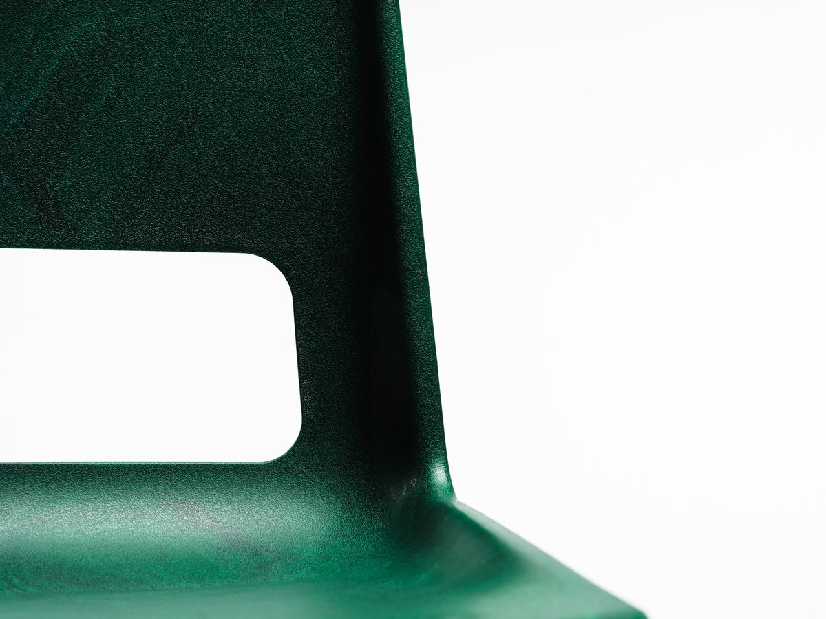 Dark green chair close up