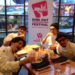 Winning 'Most Lively in the Morning' award: the chefs from Hapa Izakaya