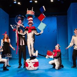 """Scene from Salt Lake Acting Company's """"The Cat in the Hat."""""""
