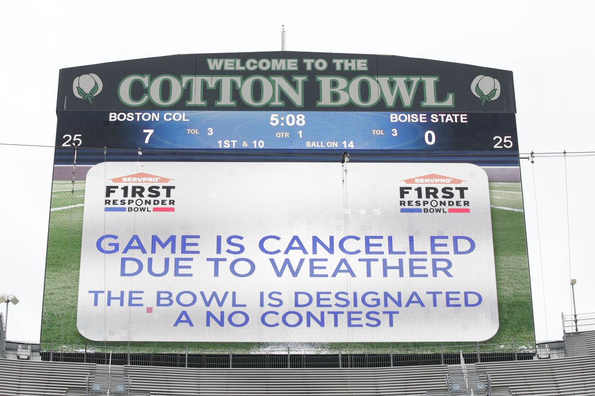 first responder bowl canceled faqs on boise state bc no contest