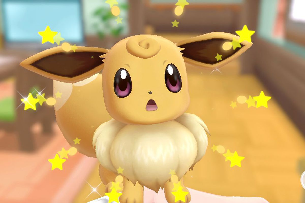 Eevee's new hairstyle in in Pokémon: Let's Go, Pikachu! and Let's Go, Eevee!