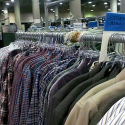 A row of Steven Alan shirts for the men