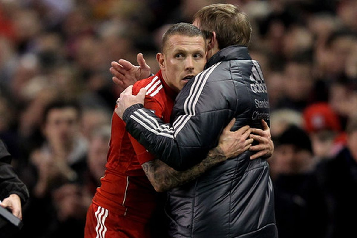 """""""Kenny...it's horrible...I've just seen Charlie Adam eating lunch...hold me."""""""