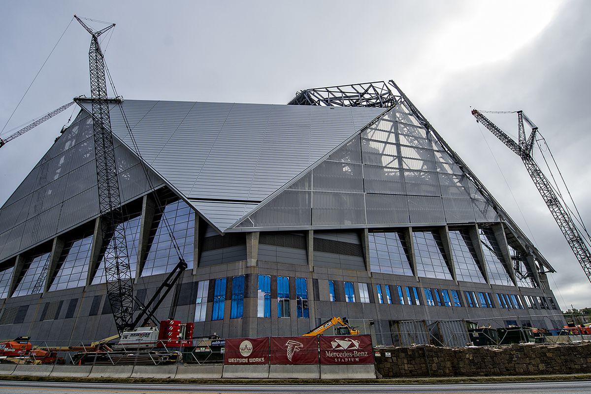 The Atlanta Falcons stadium is shaping up.