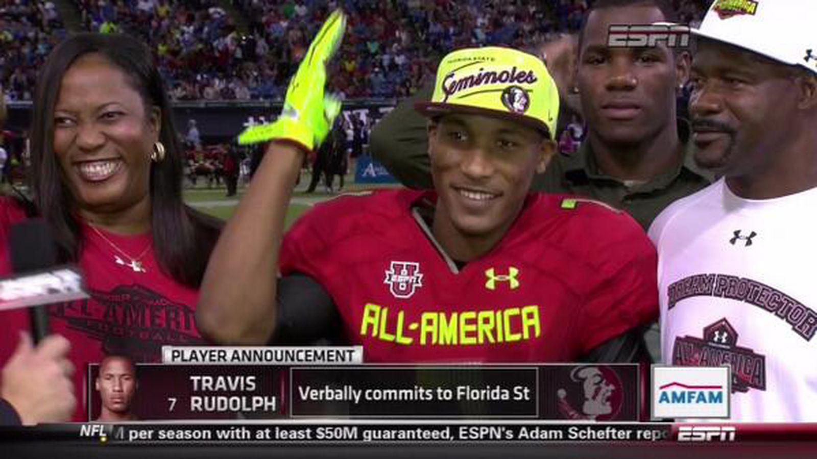 特拉维斯·鲁道夫(Travis Rudolph)承诺在佛罗里达州立大学阿拉巴马州:塞米诺尔斯队获得4星级接收新兵