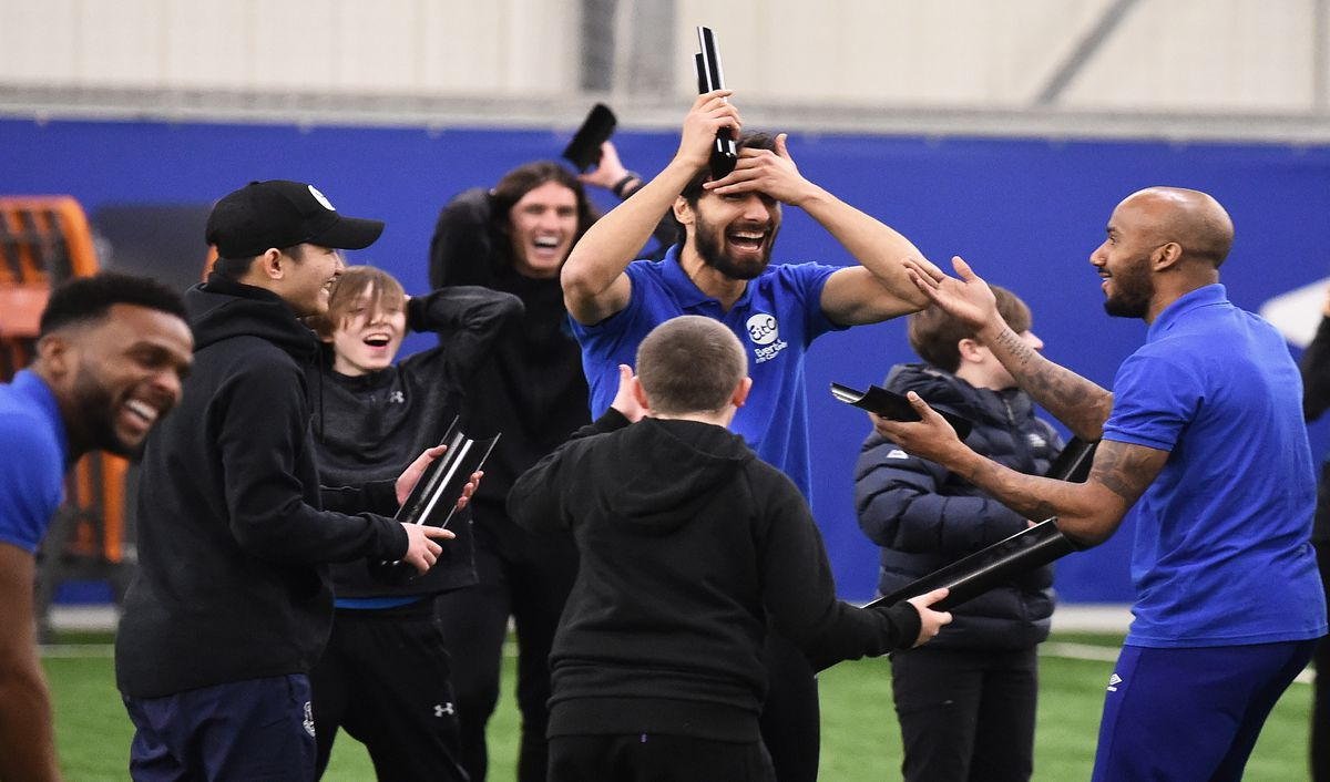Everton First Team Players Attend Everton In The Community Showcase Event