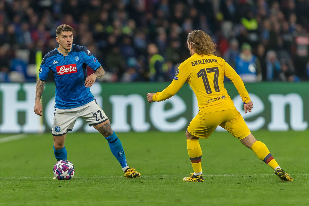 Napoli tell UEFA to move UCL tie from Camp Nou