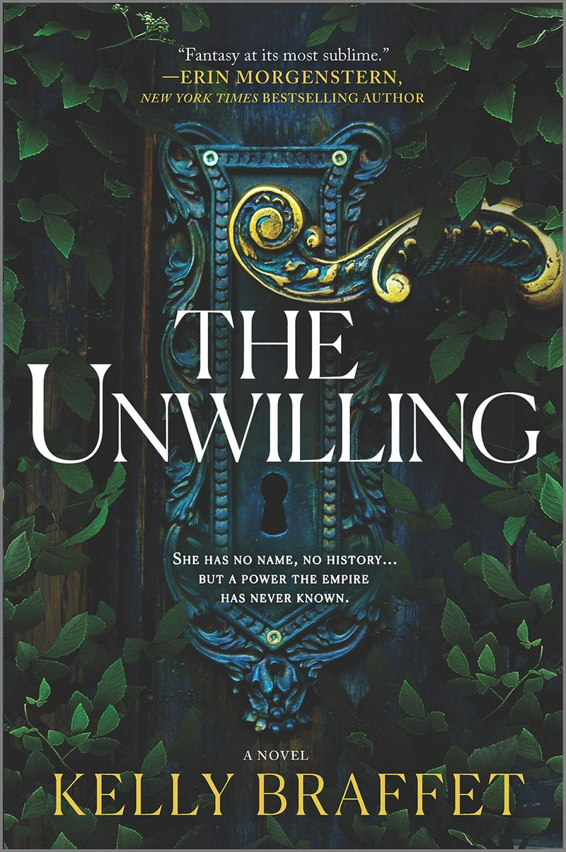 an overgrown door in the unwilling cover