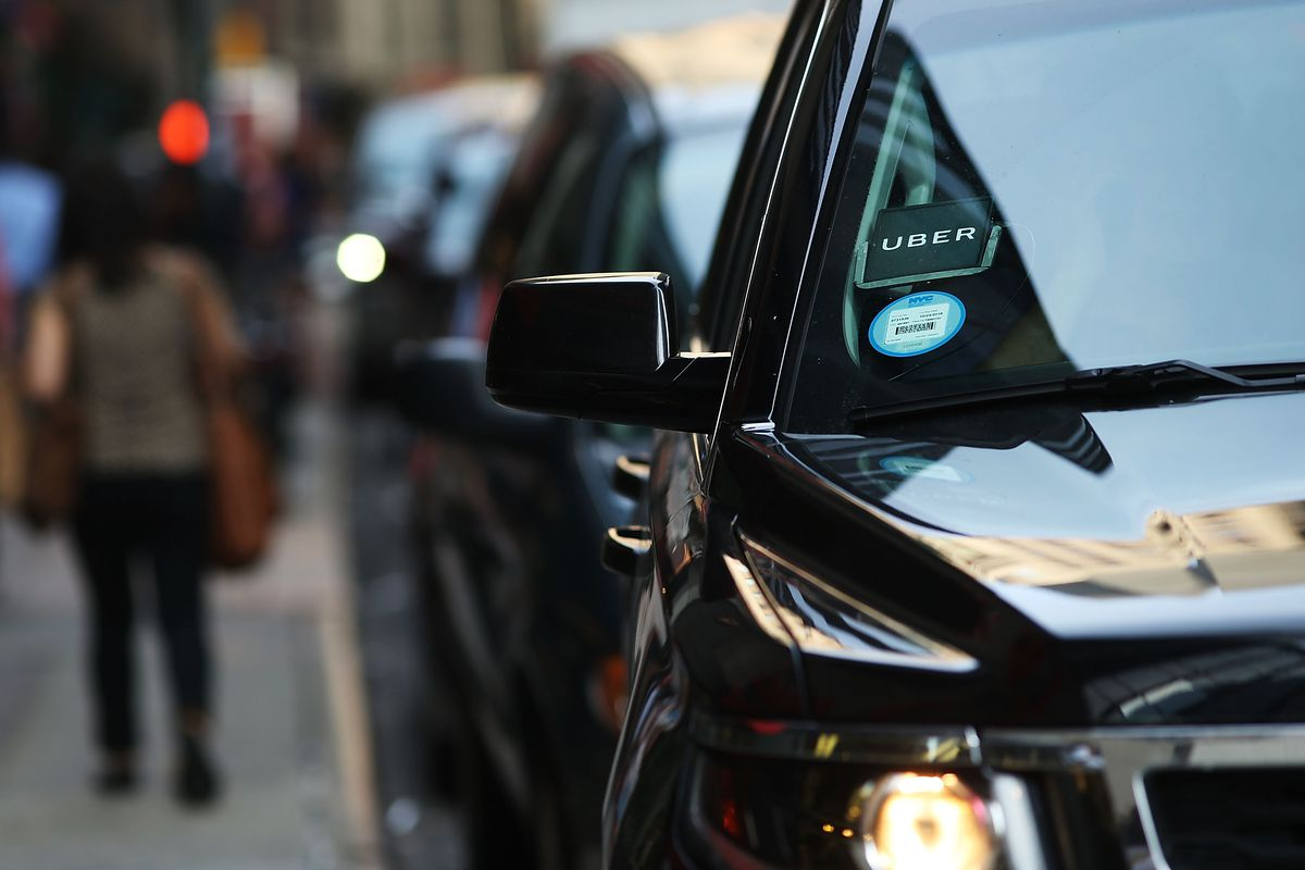 NEW YORK, NY - JUNE 14:  An Uber SUV waits for a client in Manhattan a day after it was announced that Uber co-founder Travis Kalanick will take a leave of absence as chief executive on June 14, 2017 in New York City. The move came after former attorney general Eric H. Holder Jr. and his law firm, Covington & Burling, released 13 pages of recommendations compiled as part of an investigation of sexual harassment at the ride-hailing car service.  (Photo by Spencer Platt/Getty Images)
