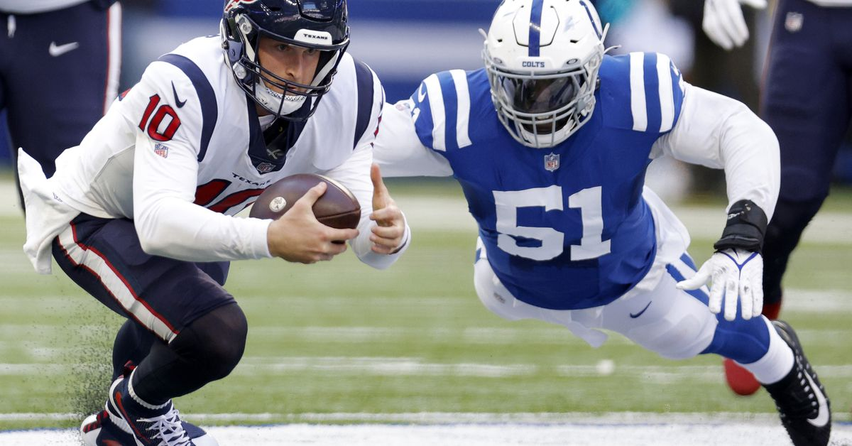 Colts' Kwity Paye ranked as PFF's highest-graded rookie defensive lineman in NFL
