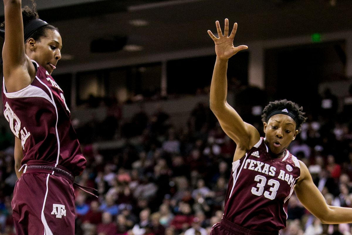 Rachel Mitchell and Courtney Walker each scored 10. Walker's moved her to #5 on the Ags all-time scoring list.