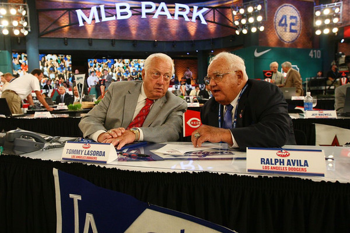 If you missed Tommy Lasorda making a pick last night, you should find a video.