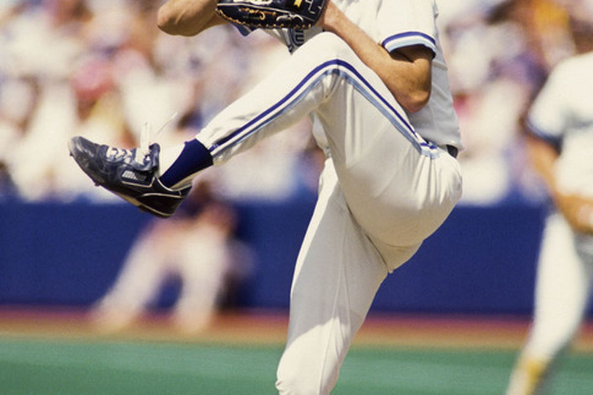 Jack Morris threw a complete game for the Toronto Blue Jays in Game 1 of the 1992 ALCS against the Oakland Athletics, but a Harold Baines homer in the 9th resulted in a 4-3 loss. Mandatory Credit: US PRESSWIRE